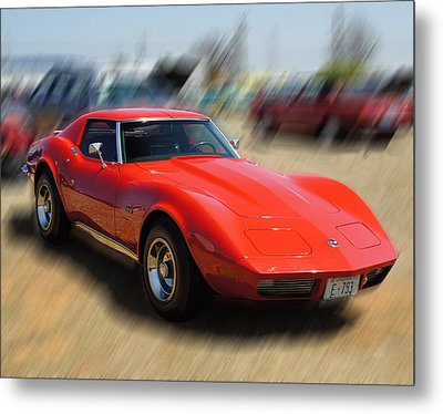1973 Corvette Metal Print by B Wayne Mullins