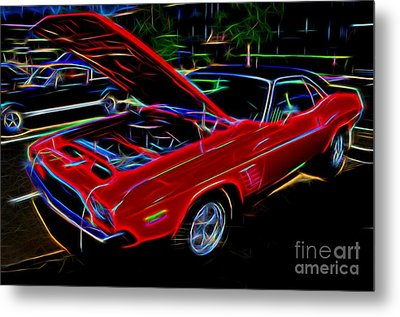 1973 Dodge Challenger - Classic Muscle Car  Metal Print by Gary Whitton