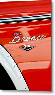 1973 Ford Bronco Custom 2 Door Emblem Metal Print by Jill Reger