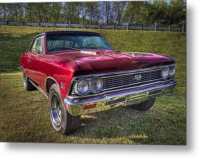 1976 Chevelle Ss 396 Metal Print by Debra and Dave Vanderlaan
