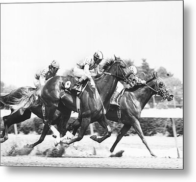 1976 Rockingham Park Vintage Horse Racing Metal Print by Retro Images Archive