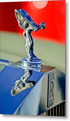 1976 Rolls Royce Silver Shadow Hood Ornament Metal Print by Jill Reger