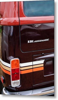 1978 Volkswagen Vw Champagne Edition Bus Taillight Emblem Metal Print by Jill Reger