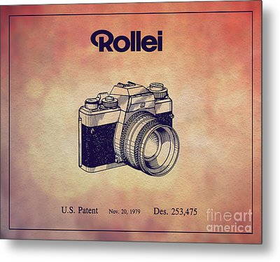 1979 Rollei Camera Patent Art 1 Metal Print by Nishanth Gopinathan