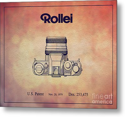 1979 Rollei Camera Patent Art 2 Metal Print by Nishanth Gopinathan