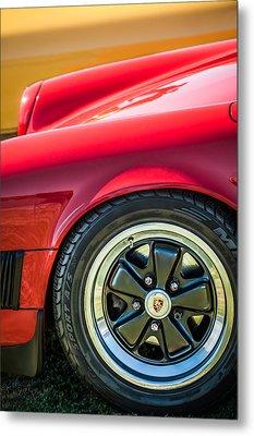 1984 Porsche 911 Carrera Wheel Emblem -2270bw Metal Print by Jill Reger