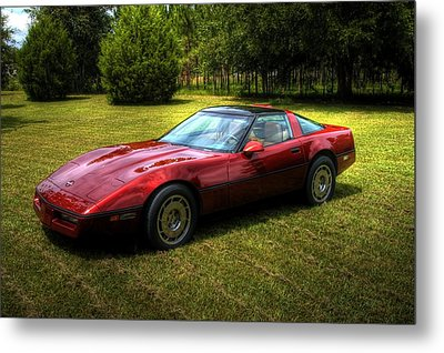 1986 Corvette Metal Print by Donald Williams
