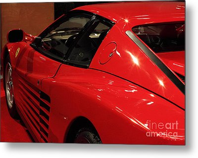 1986 Ferrari Testarossa - 5d20030 Metal Print by Wingsdomain Art and Photography