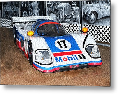 Metal Print featuring the painting 1989 Aston Martin Amr1/4 by Boris Mordukhayev