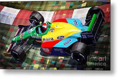 1989 Monaco Benettonb188 Ford Cosworth J Herbert Metal Print by Yuriy Shevchuk