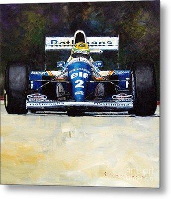 1994 Ayrton Senna Williams Renault Fw16 Metal Print by Yuriy Shevchuk