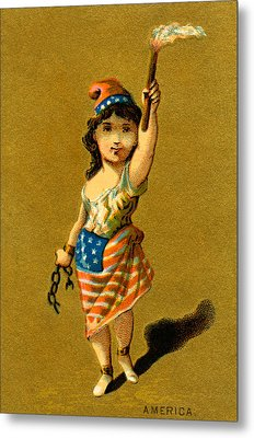 19th C. Lady Liberty  Metal Print by Historic Image