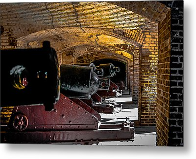 19th Century Cannon Line Metal Print by Optical Playground By MP Ray