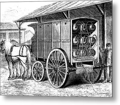 19th Century Compressed Gas Tanks Metal Print by Collection Abecasis