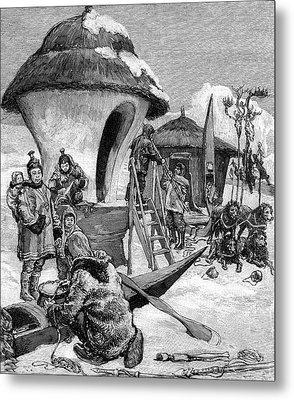 19th Century Eskimo Village Metal Print