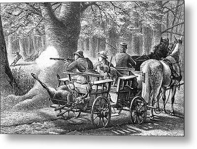 19th Century Game Drive Metal Print by Bildagentur-online/tschanz