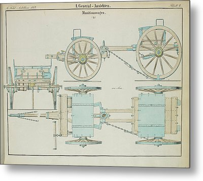 19th Century German Ammunition Carriage Metal Print by British Library