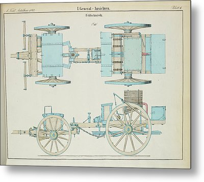 19th Century German Artillery Forge Metal Print by British Library