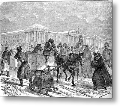 19th Century Ice Transportation Metal Print by Collection Abecasis