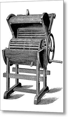 19th Century Washing Machine Metal Print