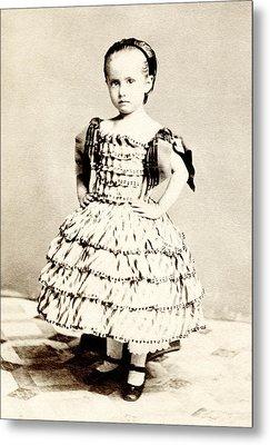 1865 Defiant American Girl Metal Print