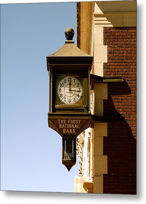 1st National Bank Metal Print by Roseann Errigo
