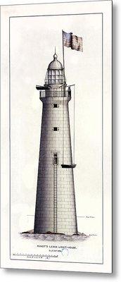 1852 Minot's Ledge Lighthouse Metal Print by Jon Neidert