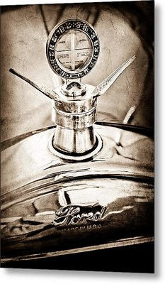 1923 Ford Model T Hood Ornament Metal Print by Jill Reger