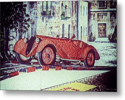 Metal Print featuring the painting 1937 Alfa Romeo 8c 2900a by Boris Mordukhayev