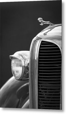 1938 Dodge Ram Grille - Hood Ornament Metal Print by Jill Reger
