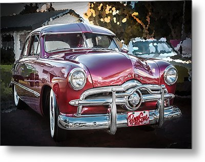 1949 Ford 2 Door Custom  Metal Print by Rich Franco