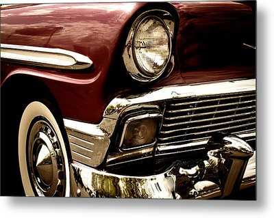 1956 Chevy Bel Air Metal Print by David Patterson