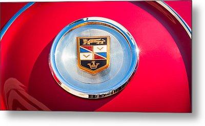 1960 Chrysler Imperial Crown Convertible Emblem Metal Print by Jill Reger