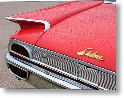 1960 Ford Galaxie Starliner Taillight Emblem Metal Print by Jill Reger