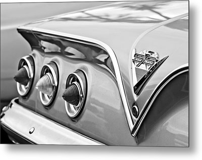 1961 Chevrolet Ss Impala Tail Lights Metal Print