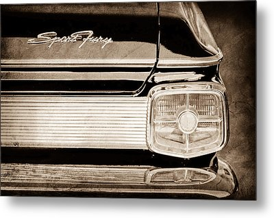 1963 Plymouth Sport Fury Taillight Emblem Metal Print