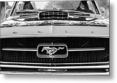 1967 Ford Mustang Grille Emblem Metal Print by Jill Reger