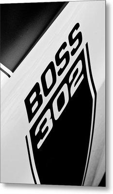 1970 Ford Mustang Boss 302 Emblem Metal Print by Jill Reger