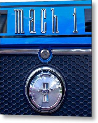 1970 Ford Mustang Gt Mach 1 Emblem Metal Print by Jill Reger