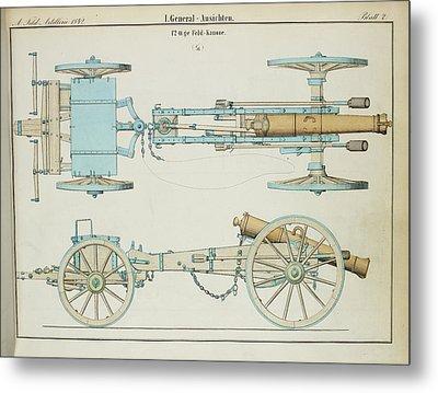 19th Century German Artillery Piece Metal Print by British Library