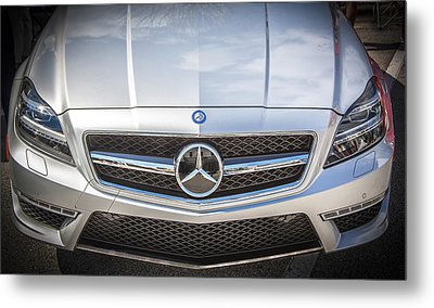 2012 Mercedes Cls 63 Amg Twin Turbo Bw Metal Print by Rich Franco