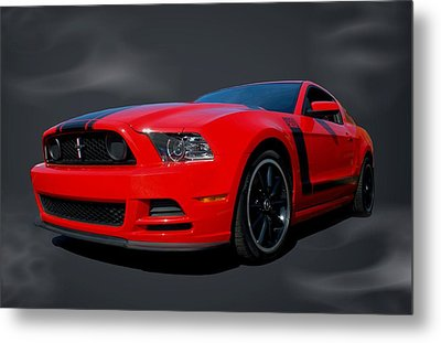 Metal Print featuring the photograph 2013 Mustang Boss 302 by Tim McCullough