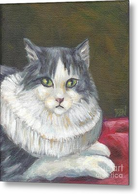 A Cat Of Peter Paul Rubens Style Metal Print