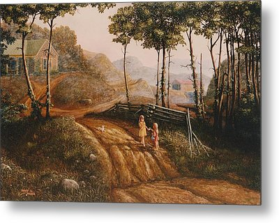 A Country Lane Metal Print