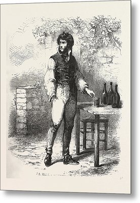 A Glass Of Wine In The Garden, The Count Of Monte Christo Metal Print