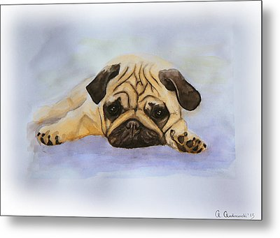 A Little Bulldog Metal Print by Anna Androsovski