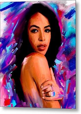 Aaliyah Metal Print by Bogdan Floridana Oana