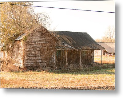 Abandoned House Metal Print by Ronald Olivier