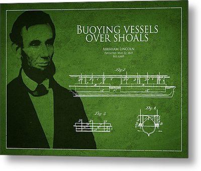 Abraham Lincoln Patent From 1849 Metal Print