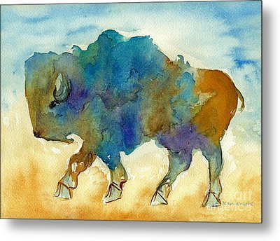Abstract Buffalo Metal Print